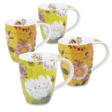 11 oz. Lotus and Fruit Tea Flower Mug (Set of 4)