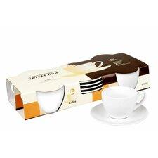 Coffee Bar 7 oz. Cup and Saucer (Set of 4)