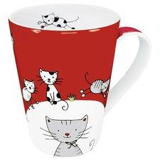 Animals Globetrotter Cat Mug (Set of 4)