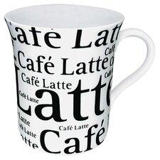 Coffee Shop Cafe Latte Writing Mug (Set of 4)