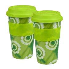 Batik 12 oz. Travel Mug (Set of 2)