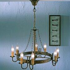 Rustik Medieval Eight Light Chandelier