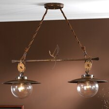 Nautic Cadernal Two Light Chandelier