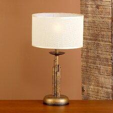 "Rustik Bambu 15.75"" H Table Lamp with Drum Shade"
