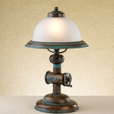 "Rustik Coffee 15.75"" H Table Lamp with Bell Shade"