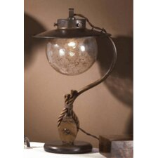 """Nautic Cadernal 18.9"""" H Table Lamp with Bell Shade"""