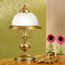 """Rustik Marble 15.75"""" H Table Lamp with Bell Shade"""