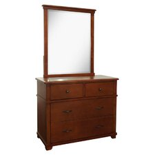 Woodridge 4-Drawer Wood Dresser with Mirror