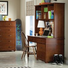 Woodridge Writing Desk with Hutch and Bow Back Desk Chair