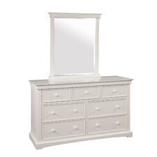 Cambridge 7-Drawer Extra-Wide Wood Dresser with Mirror
