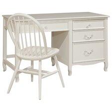 Emma Large Wood Pedestal Desk with 4 Drawers