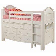 Emma Twin Loft Bed with Media Storage Cabinet