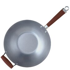 "Global Kitchen 14"" Natural Metal Wok"