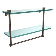 Universal Double Glass Shelf with Towel Bar