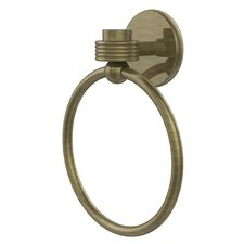 Satellite Orbit One Wall Mounted Towel Ring with Groovy Detail