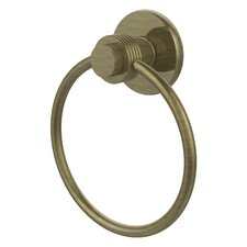 Mercury Wall Mounted Towel Ring with Groovy Detail