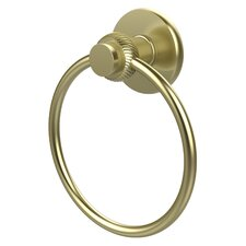 Mercury Wall Mounted Towel Ring with Twist Detail
