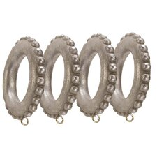 Compatible Beaded Drapery Curtain Ring (Set of 4)