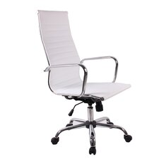High-Back Synthetic Eco-Leather Executive Swivel Chair