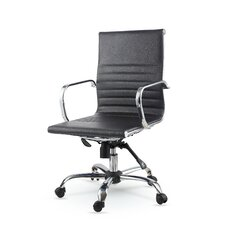 Mid-Back Leather Swivel Conference Chair
