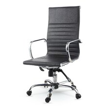 High-Back Leather Swivel Executive Chair
