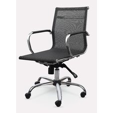 Mid-Back Mesh Synthetic Eco-Leather Conference Chair