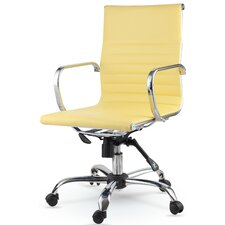 Mid-Back Eco-Leather Executive Swivel Office Chair with Arms (Set of 20)