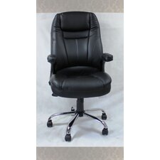 Winport Pleated High-Back Leather Executive Chair