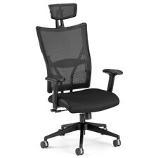 High-Back Leather Mesh Ultimate Conference Chair
