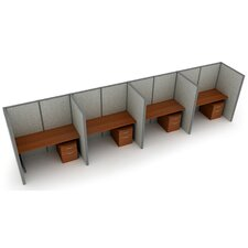 Privacy Station Panel System 1x4 Configuration