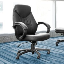 High-Back Leatherette Ergonomic Conference Chair