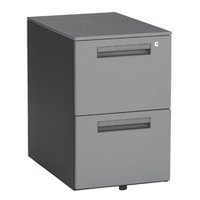 Executive Series 2-Drawer Mobile Pedestal File Cabinet
