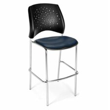 Stars and Moon Bar Stool with Cushion