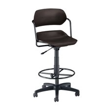 Height Adjustable Plastic Swivel Stool