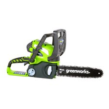 "GMAX 12"" 40-Volt Cordless Chainsaw with 2AH Battery and Charger"