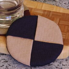 Wicker Wine Glass Coaster (Set of 2)
