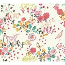 "Waverly Kids 27' x 27"" Reverie Floral Roll Wallpaper"