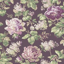 "Riverside Park 33' x 20.5"" Rose Floral Wallpaper"