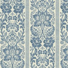 "French Dressing 27' x 27"" Damask Wallpaper"