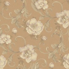 "Heritage Home Classic Promenade 27' x 27"" Floral Botanical Distressed Wallpaper"