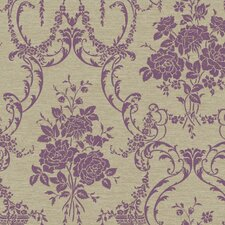 "Saint Augustine 27' x 27"" Neoclassical Rose Damask Wallpaper"