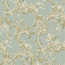 "Saint Augustine 33' x 20.5"" Trail Floral Embossed Wallpaper"