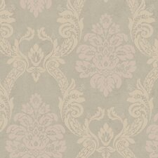 """Heritage Home Ogee 27' x 27"""" Damask Distressed Wallpaper"""