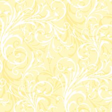 "Peek-A-Boo 27' x 27"" Layered Scroll Wallpaper"