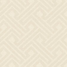 "Jewel Box Insignia 27' x 27"" Geometric Distressed Wallpaper"