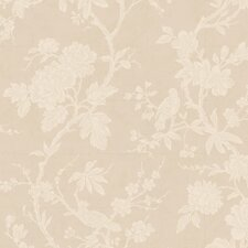 """Natural Radiance Arlington 27' x 27"""" Floral Botanical Foiled Wallpaper"""