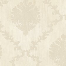 "Fresco 27' x 27"" Frame Motif Floral & Botanical Distressed Wallpaper"