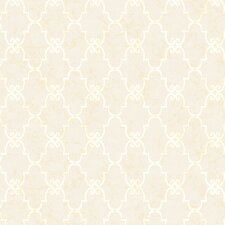 "Natural Radiance 27' x 27"" Palisades Trellis Foiled Wallpaper"
