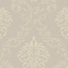 "Royal Cottage Leafy 33' x 20.5"" Damask Distressed Wallpaper"