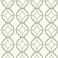 "Watercolors Lattice 33' x 20.5"" Geometric Wallpaper"